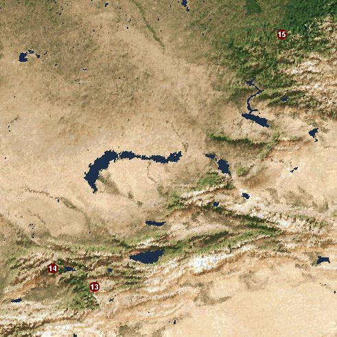 Вид со спутника с высоты 5900 км